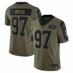 Men's San Francisco 49ers Nick Bosa Nike Olive 2021 Salute To Service Limited Player Jersey