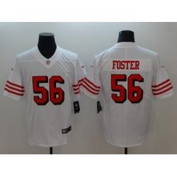 Men's San Francisco 49ers Reuben Foster 56 White Nike Scarlet Player Limited Jersey