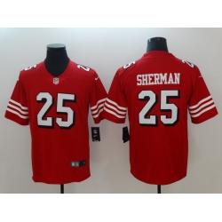 Men's San Francisco 49ers Richard Sherman 25 Red Nike Scarlet Player Limited Jersey