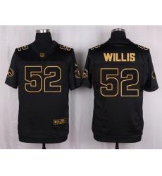 Nike 49ers #52 Patrick Willis Black Mens Stitched NFL Elite Pro Line Gold Collection Jersey