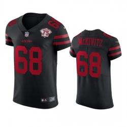 Nike San Francisco 49ers 68 Colton Mckivitz Black Alternate Men 75th Anniversary Stitched NFL Vapor Untouchable Elite Jersey
