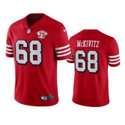 Nike San Francisco 49ers 68 Colton Mckivitz Red Rush Men 75th Anniversary Stitched NFL Vapor Untouchable Limited Jersey
