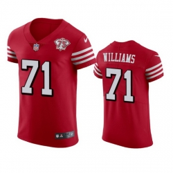 Nike San Francisco 49ers 71 Trent Williams Red Rush Men 75th Anniversary Stitched NFL Vapor Untouchable Elite Jersey