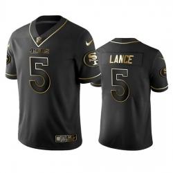 San Francisco 49ers 5 Trey Lance Black Golden Limited Edition Stitched NFL Jersey