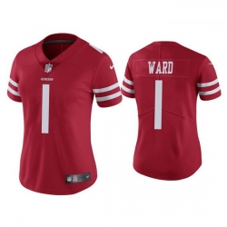 Women San Francisco 49ers 1 Jimmie Ward Red Vapor limited Jersey