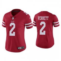 Women San Francisco 49ers 2 Jason Verrett Red Vapor limited Jersey
