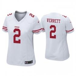 Women San Francisco 49ers 2 Jason Verrett White Vapor limited Jersey