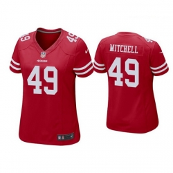 Women San Francisco 49ers 49 Elijah Mitchell Red Jersey