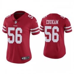Women San Francisco 49ers 56 Samson Ebukam Red Vapor limited Jersey