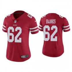 Women San Francisco 49ers 62 Aaron Banks Red Jersey Vapor Limited Jersey