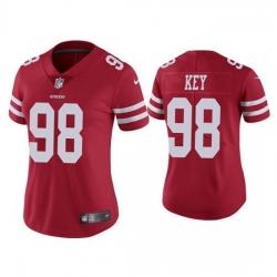 Women San Francisco 49ers 98 Arden Key Red Vapor limited Jersey
