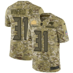 Men Nike Tampa Bay Buccaneers 31 Antoine Winfield Jr  Camo Men Super Bowl LV Champions Patch Stitched NFL Limited 2018 Salute To Service Jersey