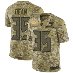 Men Nike Tampa Bay Buccaneers 35 Jamel Dean Camo Men Super Bowl LV Champions Patch Stitched NFL Limited 2018 Salute To Service Jersey