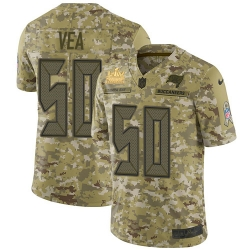 Men Nike Tampa Bay Buccaneers 50 Vita Vea Camo Men Super Bowl LV Champions Patch Stitched NFL Limited 2018 Salute To Service Jersey