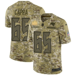 Men Nike Tampa Bay Buccaneers 65 Alex Cappa Camo Men Super Bowl LV Champions Patch Stitched NFL Limited 2018 Salute To Service Jersey