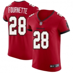 Men Tampa Bay Buccaneers 28 Leonard Fournette Men Nike Red Vapor Elite Jersey