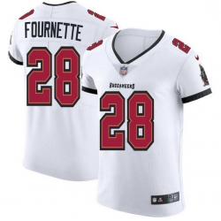 Men Tampa Bay Buccaneers 28 Leonard Fournette Men Nike White Vapor Elite Jersey