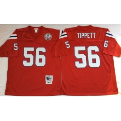 Men New England Patriots 56 Andre Tippett Red M&N Throwback Jersey