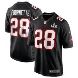 Men Tampa Bay Buccaneers Leonard Fournette Nike Black Super Bowl LIV Jersey