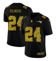 New England Patriots 24 Stephon Gilmore Men Nike Leopard Print Fashion Vapor Limited NFL Jersey Black