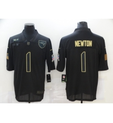 Nike New England Patriots 1 Cam Newton Black 2020 Salute To Service Limited Jersey