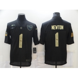 Nike New England Patriots 1 Cam Newton Black Camo 2020 Salute To Service Limited Jersey