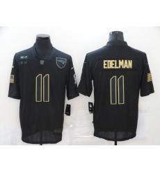 Nike New England Patriots 11 Julian Edelman Black 2020 Salute To Service Limited Jersey
