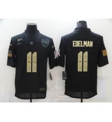 Nike New England Patriots 11 Julian Edelman Black Camo 2020 Salute To Service Limited Jersey