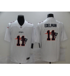 Nike New England Patriots 11 Julian Edelman White Shadow Logo Limited Jersey