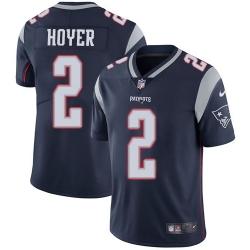 Nike New England Patriots 2 Brian Hoyer Navy Blue Team Color Men Stitched NFL Vapor Untouchable Limited Jersey