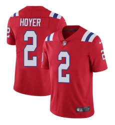 Nike New England Patriots 2 Brian Hoyer Red Alternate Men Stitched NFL Vapor Untouchable Limited Jersey