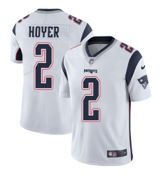 Nike New England Patriots 2 Brian Hoyer White Men Stitched NFL Vapor Untouchable Limited Jersey