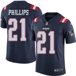 Nike New England Patriots 21 Adrian Phillips Navy Blue Men Stitched NFL Limited Rush Jersey