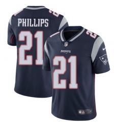 Nike New England Patriots 21 Adrian Phillips Navy Blue Team Color Men Stitched NFL Vapor Untouchable Limited Jersey