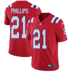 Nike New England Patriots 21 Adrian Phillips Red Alternate Men Stitched NFL Vapor Untouchable Limited Jersey