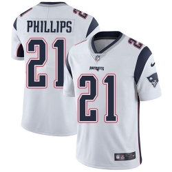Nike New England Patriots 21 Adrian Phillips White Men Stitched NFL Vapor Untouchable Limited Jersey