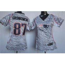 Women New England Patriots Rob Gronkowski Zebra limited Jersey