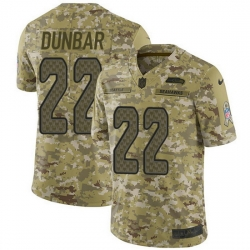 Nike Seahawks 22 Quinton Dunbar Camo Men Stitched NFL Limited 2018 Salute To Service Jersey