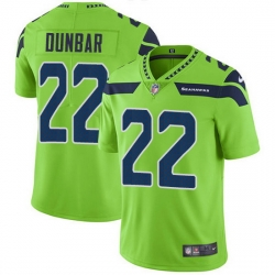 Nike Seahawks 22 Quinton Dunbar Green Men Stitched NFL Limited Rush Jersey