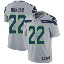 Nike Seahawks 22 Quinton Dunbar Grey Alternate Men Stitched NFL Vapor Untouchable Limited Jersey