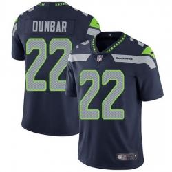 Nike Seahawks 22 Quinton Dunbar Steel Blue Team Color Men Stitched NFL Vapor Untouchable Limited Jersey