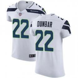 Nike Seahawks 22 Quinton Dunbar White Men Stitched NFL New Elite Jersey