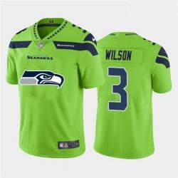 Nike Seahawks 3 Russell Wilson Green Team Big Logo Vapor Untouchable Limited Jersey
