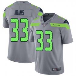 Nike Seahawks 33 Jamal Adams Gray Men Stitched NFL Limited Inverted Legend Jersey