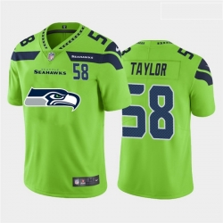 Nike Seahawks 58 Darrell Taylor Green Team Big Logo Number Vapor Untouchable Limited Jersey