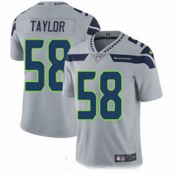Nike Seahawks 58 Darrell Taylor Grey Alternate Men Stitched NFL Vapor Untouchable Limited Jersey