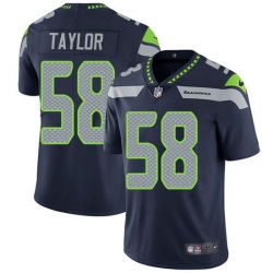 Nike Seahawks 58 Darrell Taylor Steel Blue Team Color Men Stitched NFL Vapor Untouchable Limited Jersey
