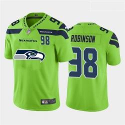 Nike Seahawks 98 Alton Robinson Green Team Big Logo Number Vapor Untouchable Limited Jersey