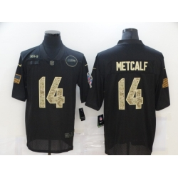 Nike Seattle Seahawks 14 DK Metcalf Black Camo 2020 Salute To Service Limited Jersey