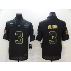 Nike Seattle Seahawks 3 Russell Wilson Black 2020 Salute To Service Limited Jersey